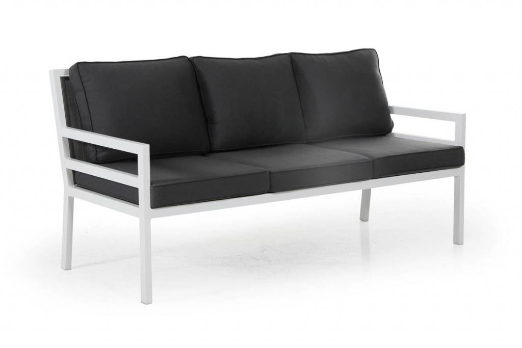 BERGERAC 3-sits Soffa m. grå dyna Vit