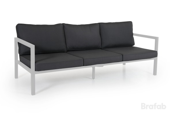 BELFORT 3-sits soffa Vit med grå dyna