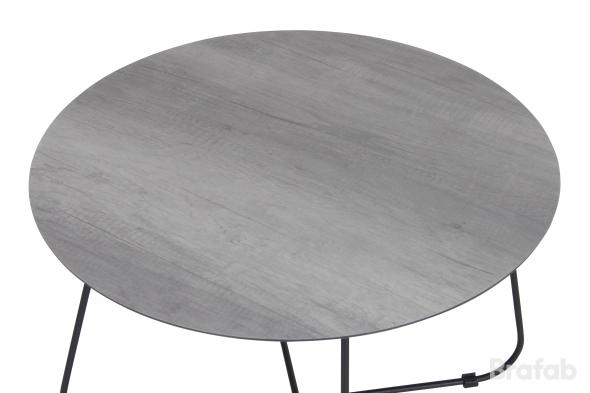Taverny Bord 85cm vit/grå trälook