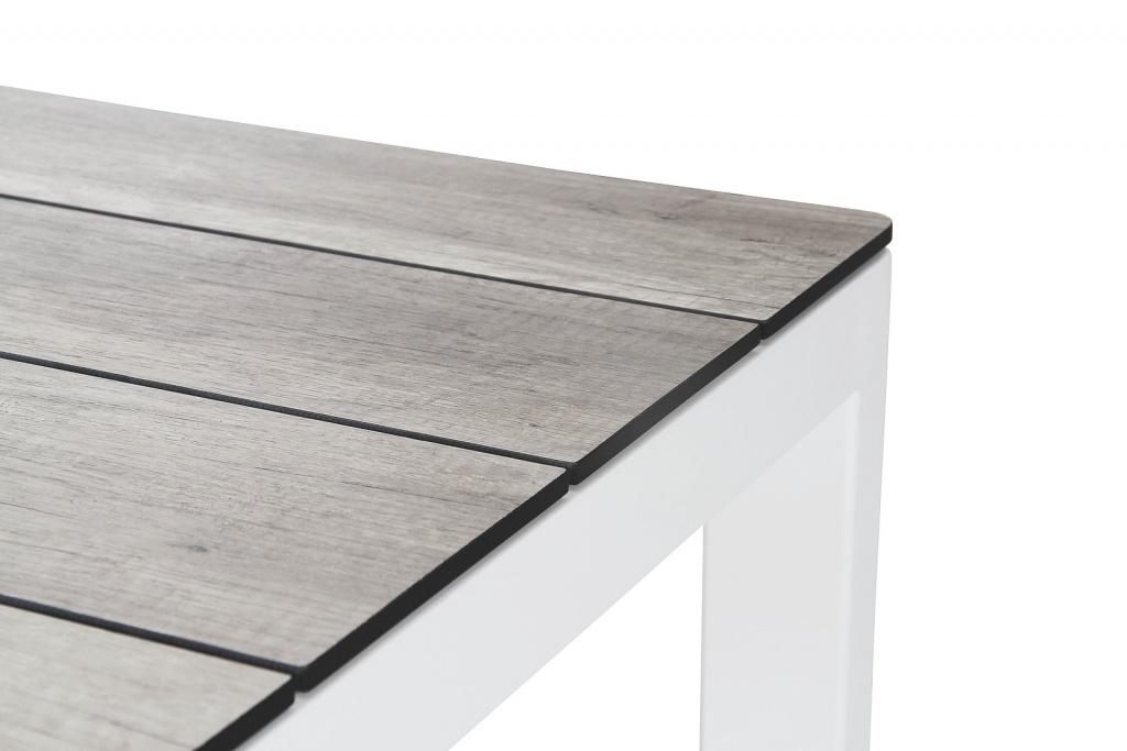 Rodez Bord 209x95cm vit blank/grå trälook