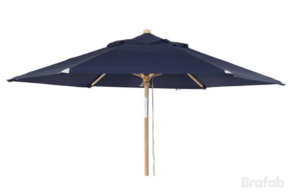 Trieste parasoll 2,5m Marinblå
