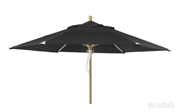 Trieste parasoll 2,5m Svart