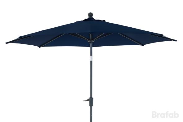 Florens parasoll 2,7m Antracit/blå