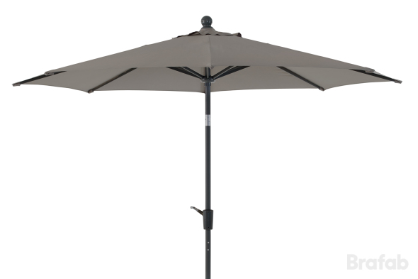 Florens parasoll 2,7m Antracit/grå