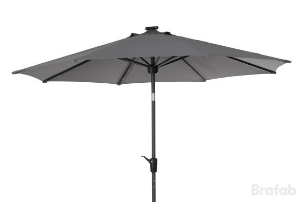 Sassari parasoll med blåtandshögtalare Grå