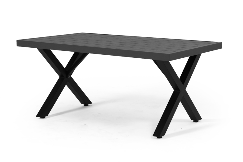 WELDON Soffbord 75x120cm Svart/Grå