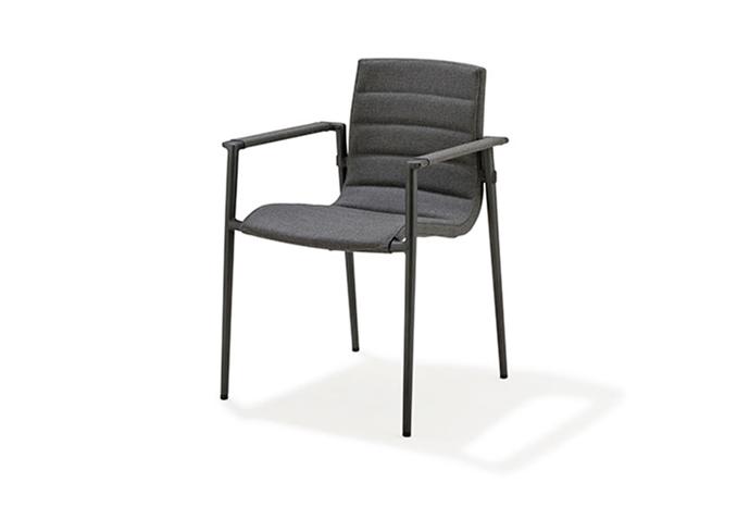 Core Stol m/armstöd Grå
