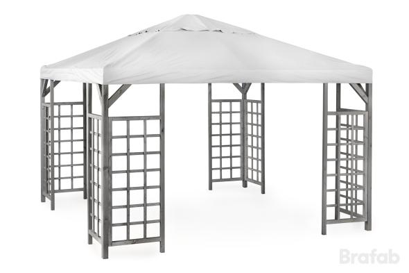HOV Paviljong 3x4m inkl tak Grå