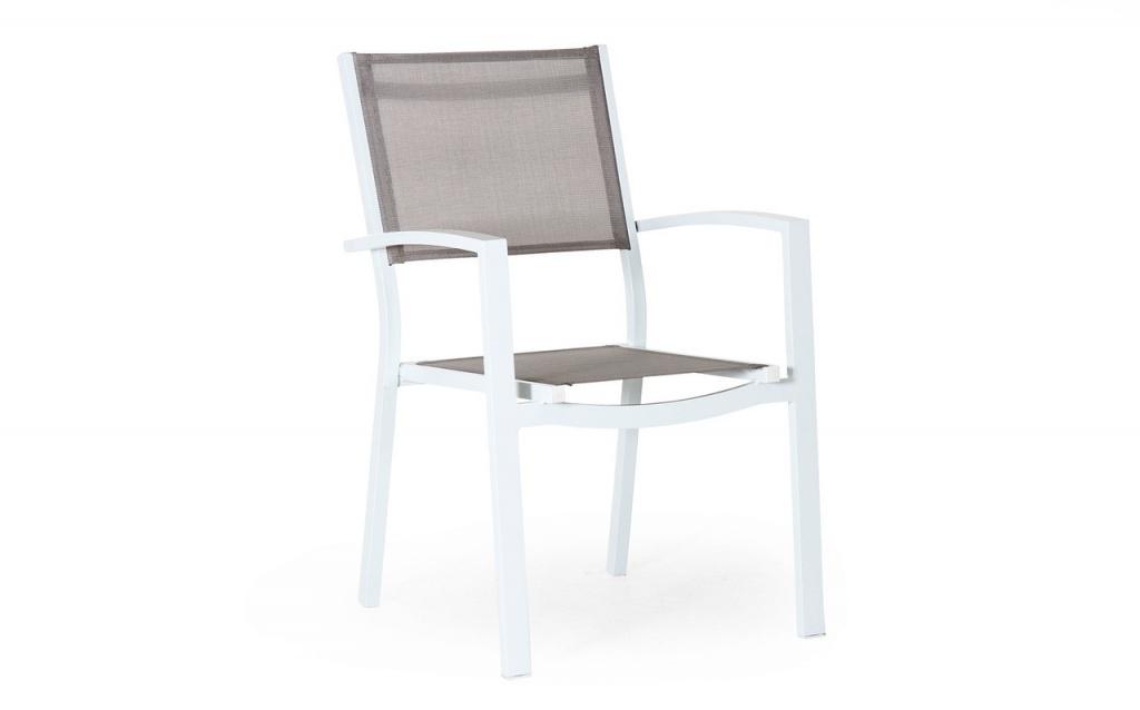 Leone Stapelstol Vit/grå