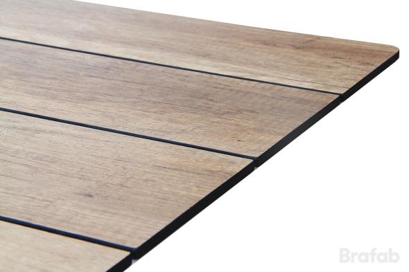 Rodez Bord 209x95cm matt svart/natur trälook