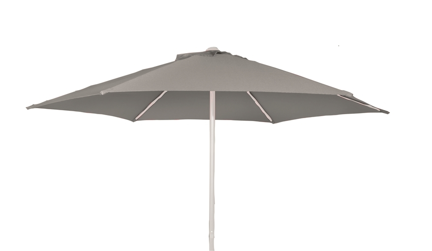 Rod parasoll vit/grå Ø 2m