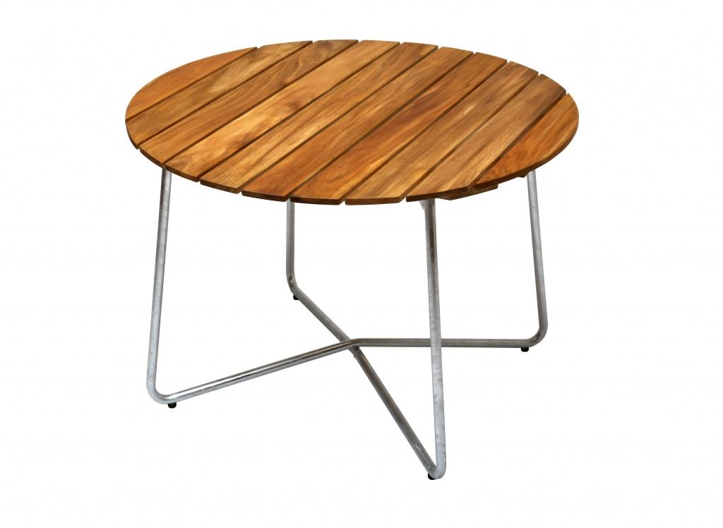 Grupp Teak, 9A bord 100cm med 4st fåtölj A2