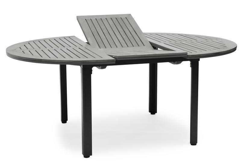 Nydala bord gaumo 130 runt - 180cm svart/grå